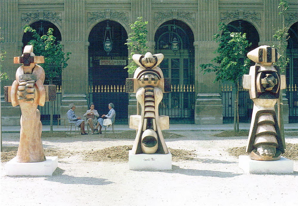 Les trois belles Otero. Exposición. Jardín del Palacio Real, París.